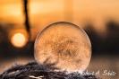 gefrorene Seifenblase am Morgen